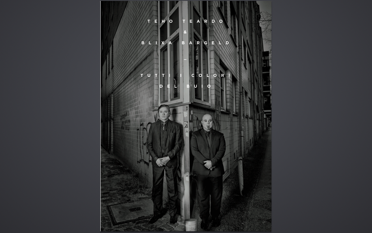 Interview with Blixa Bargeld and Teho Teardo cover