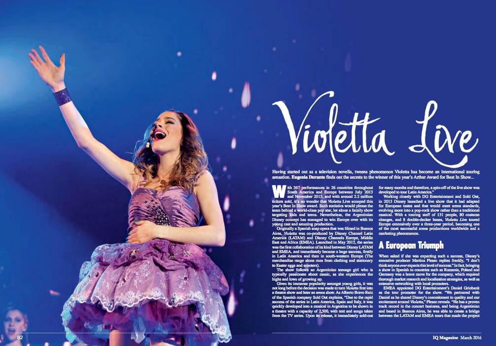 Violetta live article