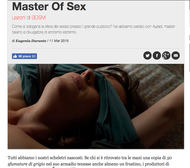 Master of Sex article