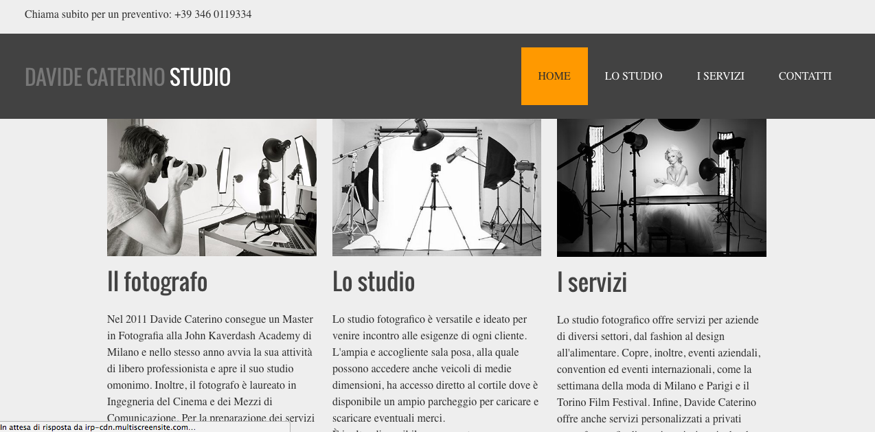 Photographic studio website