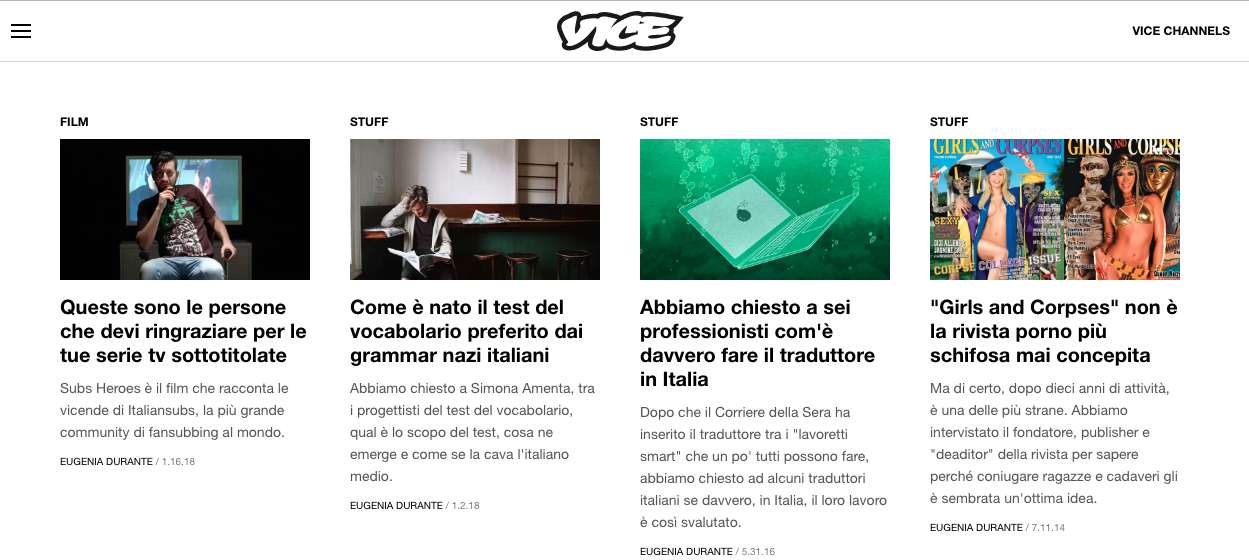Vice articles